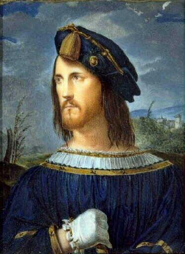 Portretul lui Cesare Borgia, realizat de Altobello, Bergamo, Accademia Carrara; sursa: bmliterature.altervista.org