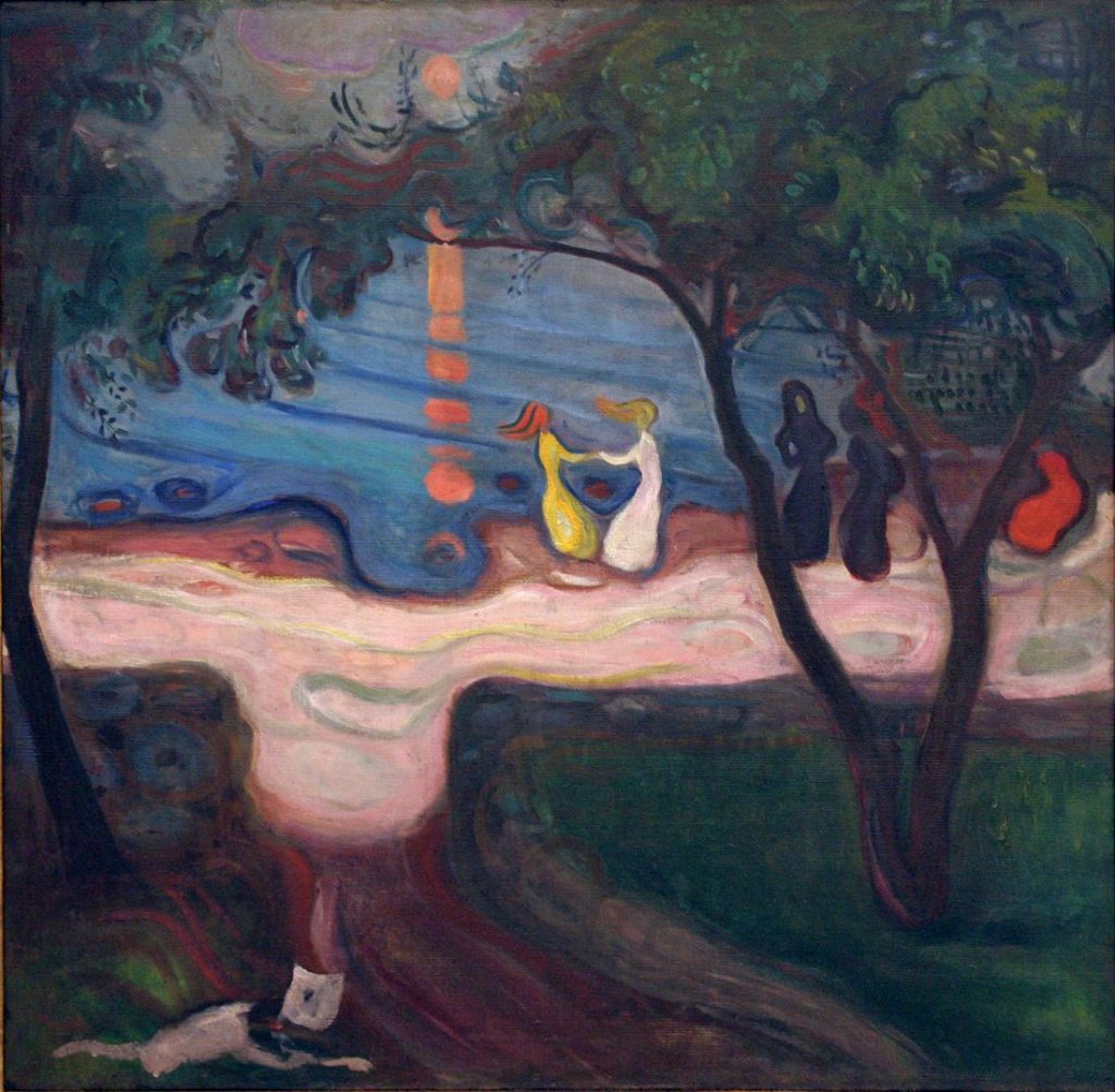 pictura: Edvard Munch, Dans pe malul marii, www.edvardmunch.org