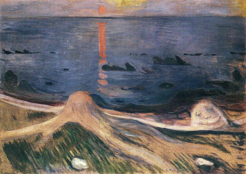 pictura: Edvard Munch, Noapte de vara, www.edvardmunch.org