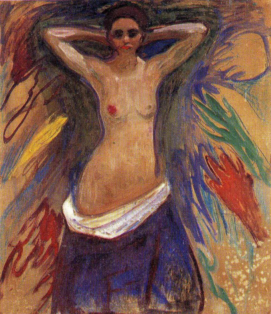 pictura: Edvard Munch, Mainile, Muzeul National din Oslo, www.wikiart.org/en