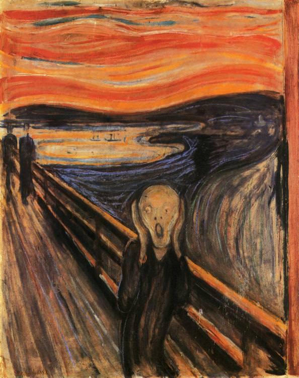 "pictura: Edvard Munch, Strigatul"", Galeria Nationala din Oslo, www.wikiart.org"
