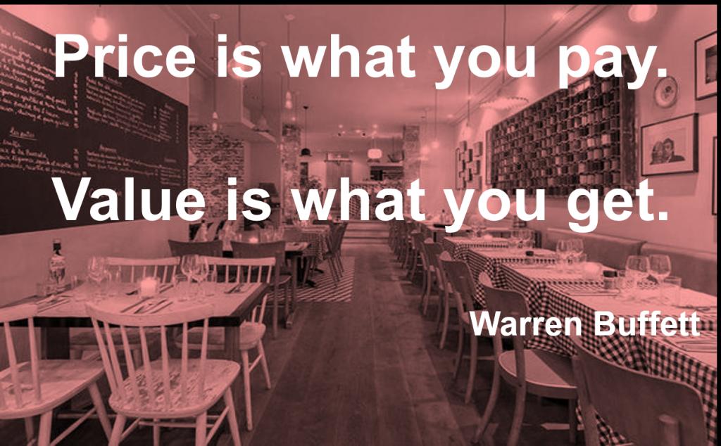 pret versus valoare