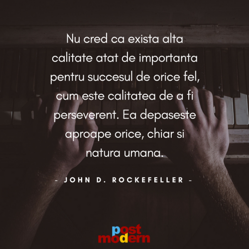 Citat motivational John D. Rockefeller