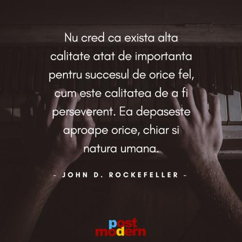 Citat motivational John D. Rockefeller