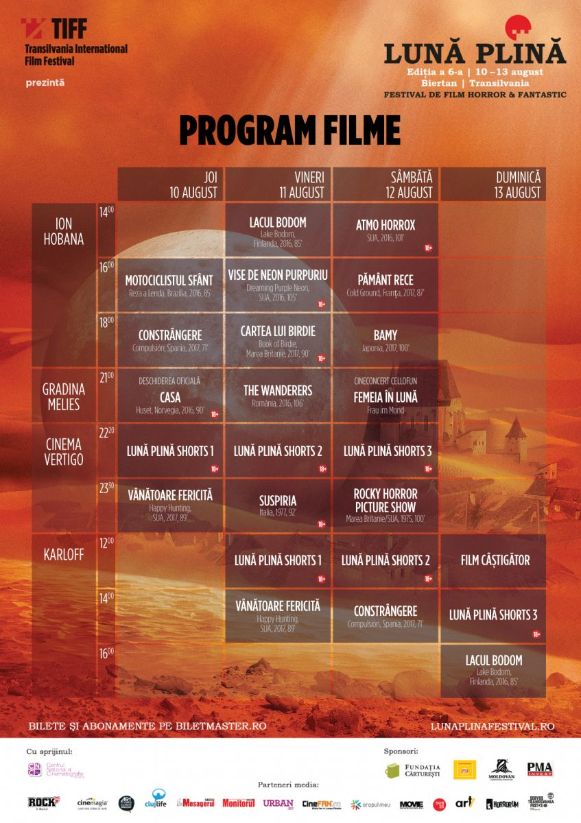 Luna Plina - festival - 2017 - program