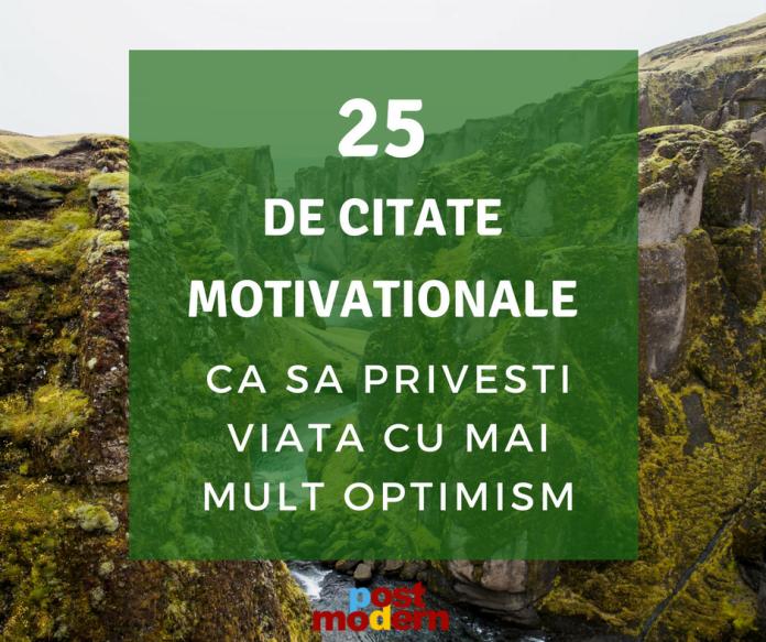 citate motivationale optimism