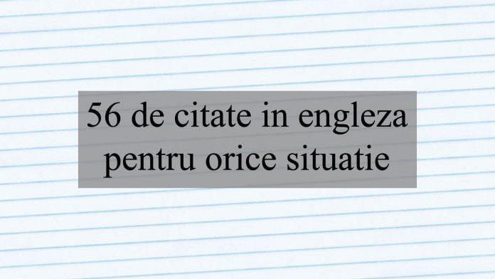 citate in engleza