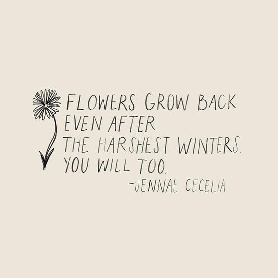 citate in engleza triste - Flowers grow back even after the harshest winters. You will too.