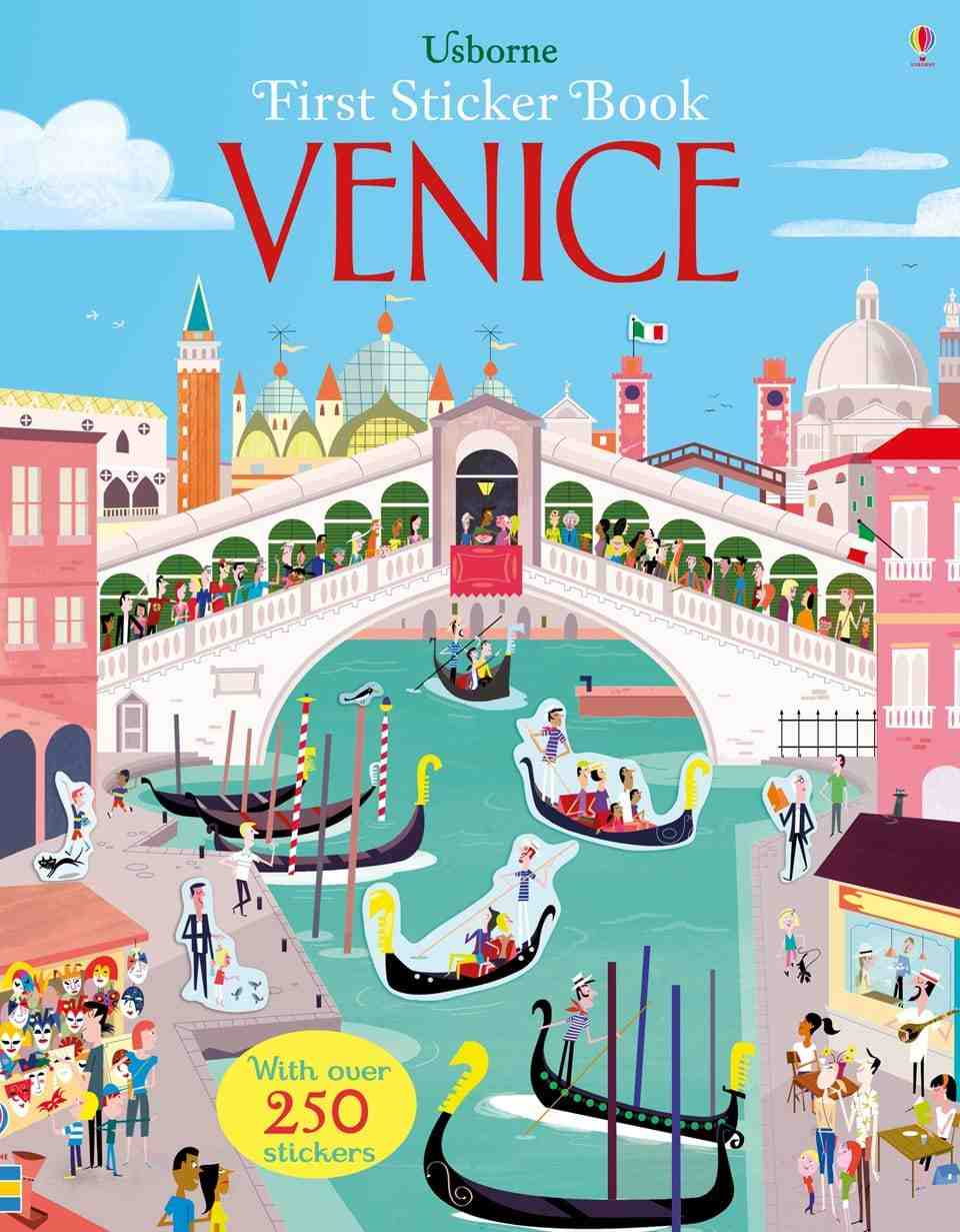 First Sticker Book Venice carti usborne