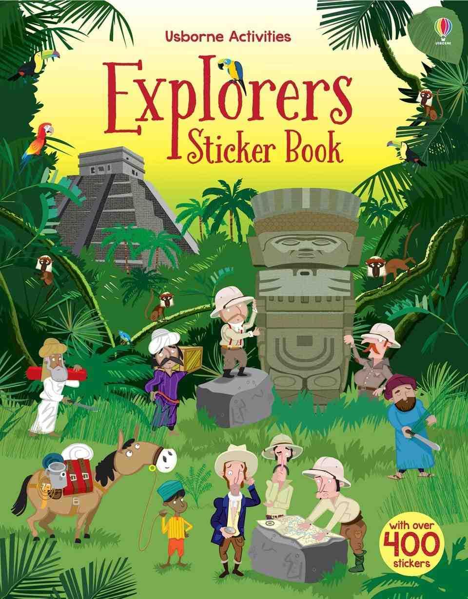 Sticker Book Explorers carti pentru copii de 13 ani