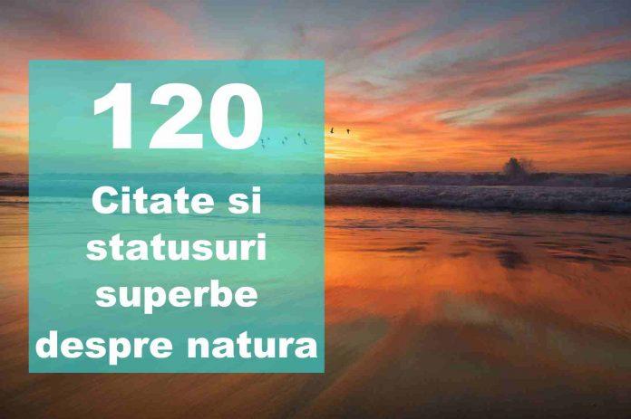 citate si statusuri despre natura