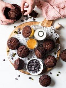 rețete deserturi brioșe cu ciocolată
