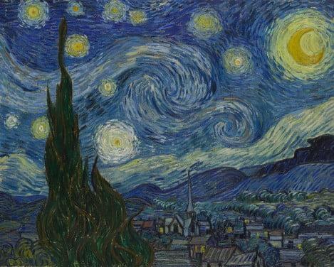 3. Van-Gogh.-Starry-Night- tablouri celebre