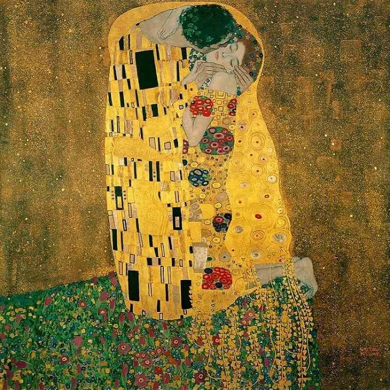 7. The-Kiss gustav klimt tablouri celebre