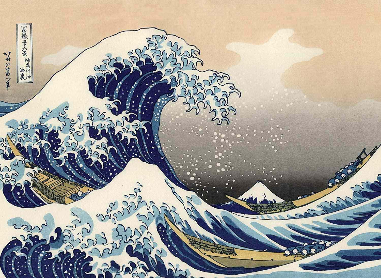 8. The great wave picturi celebre