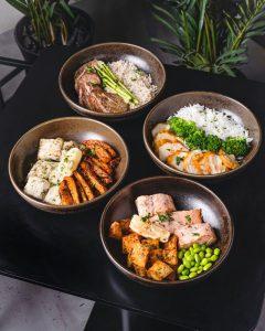 rețete asiatice cu pui, bol sushi