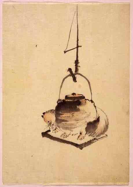 arta ceaiului pictura hokusai