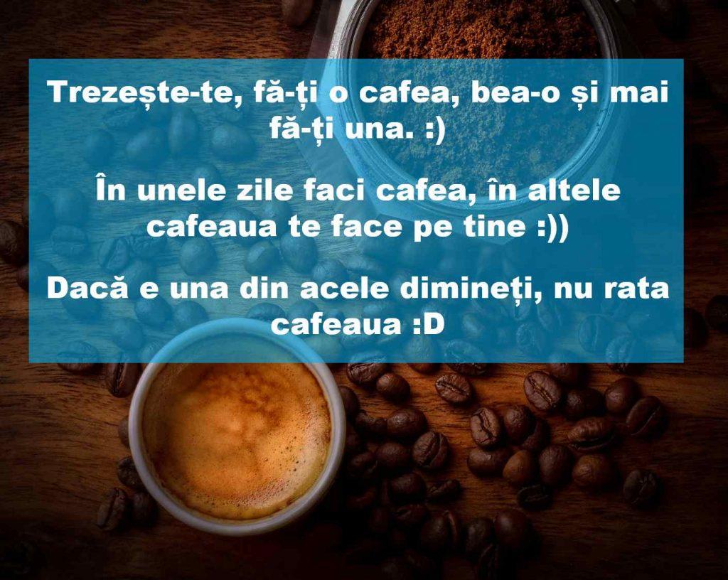 mesaje de buna dimineata la cafea